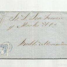 Sellos: CIRCULADA Y ESCRITA 1870 DE IBIZA BALEARES A PUEBLA DEL CARAMIÑAL CON FECHADOR LLEGADA. Lote 154395278