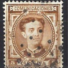 Sellos: ESPAÑA 1876 - ALFONSO XII,- EDIFIL 174 - SELLO USADO, MATASELLO DE PUNTOS. Lote 154885562