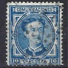 Sellos: ESPAÑA 1876 - ALFONSO XII,- EDIFIL 175 - SELLO USADO, MATASELLO DE PUNTOS. Lote 154885626