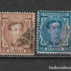 Sellos: ESPAÑA 1876 EDIFIL 174/175 USADOS - 3/8. Lote 155437842