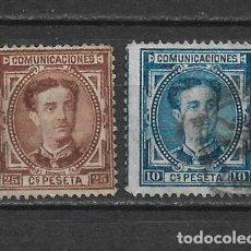 Sellos: ESPAÑA 1876 EDIFIL 174/175 USADOS - 3/8. Lote 155437862