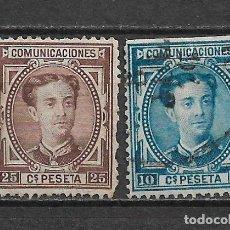 Sellos: ESPAÑA 1876 EDIFIL 174/175 USADOS - 3/8. Lote 155437870