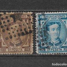 Sellos: ESPAÑA 1876 EDIFIL 174/175 USADOS - 3/8. Lote 155437926