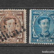 Sellos: ESPAÑA 1876 EDIFIL 174/175 USADOS - 3/8. Lote 155437954