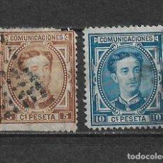 Sellos: ESPAÑA 1876 EDIFIL 174/175 USADOS - 3/8. Lote 155437982