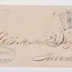 Sellos: ENVUELTA DE CORUÑA A RIBADEO, GALICIA. 1879. Lote 156559098