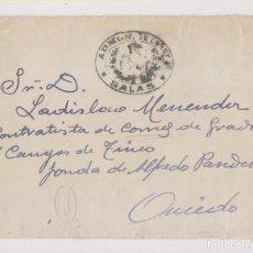 Sellos: RARO SOBRE CON FRANQUICIA DE LA ADMINISTRACIÓN DE CORREOS DE SALAS, ASTURIAS.. Lote 156559498