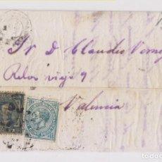 Sellos: CARTA ENTERA DE ALBAIDA A VALENCIA. 1877. IMPUESTO DE GUERRA. . Lote 156599158