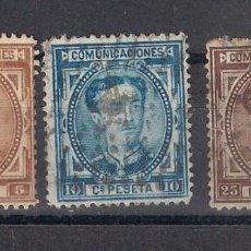 Sellos: ESPAÑA 1876 EDIFIL 174/175 Y 177 USADO - 3/14. Lote 156684530