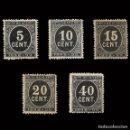 Sellos: SELLOS ESPAÑA. ALFONSO XII 1898 CIFRAS. 5 VALORES. NUEVO**.. Lote 156759558