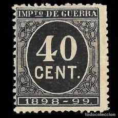 Sellos: SELLOS ESPAÑA. ALFONSO XII 1898 CIFRAS. 40 CENT. NUEVO*. SIN GOMA . Lote 156760394