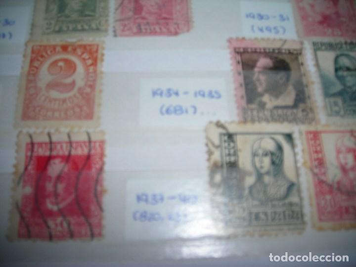 Sellos: 20 SELLOS CIRCULADOS AÑOS ENTRE 1877 Y 1937. Alfonso XII, Alfonso XIII, Republica y Alzamiento. - Foto 3 - 159790442