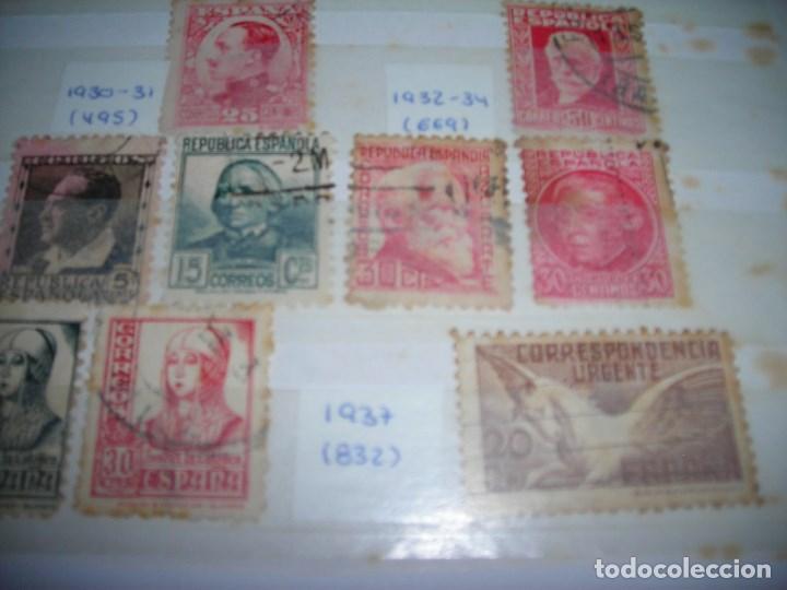Sellos: 20 SELLOS CIRCULADOS AÑOS ENTRE 1877 Y 1937. Alfonso XII, Alfonso XIII, Republica y Alzamiento. - Foto 4 - 159790442