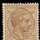 Sellos: ESPAÑA EDIFIL 195 (*) MNG 40 CÉNTIMOS CASTAÑO ALFONSO XII 1877 NL1243. Lote 160458366