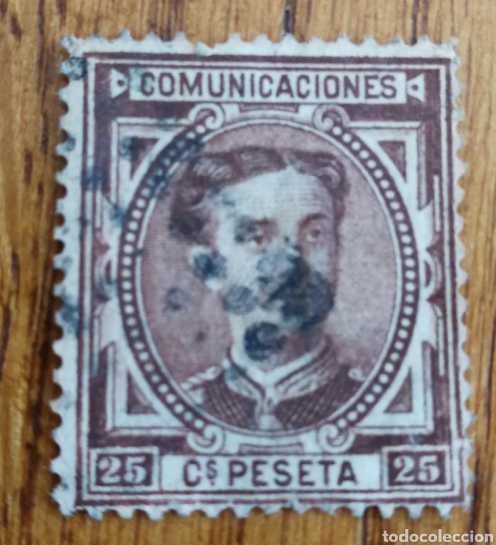 ESPAÑA: N°177 USADO (Sellos - España - Alfonso XII de 1.875 a 1.885 - Usados)