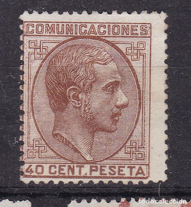 VV15-CLÁSICOS EDIFIL 195 NUEVO (*). MARQUILLADO Y FIRMADO. PERFECTO (Sellos - España - Alfonso XII de 1.875 a 1.885 - Nuevos)
