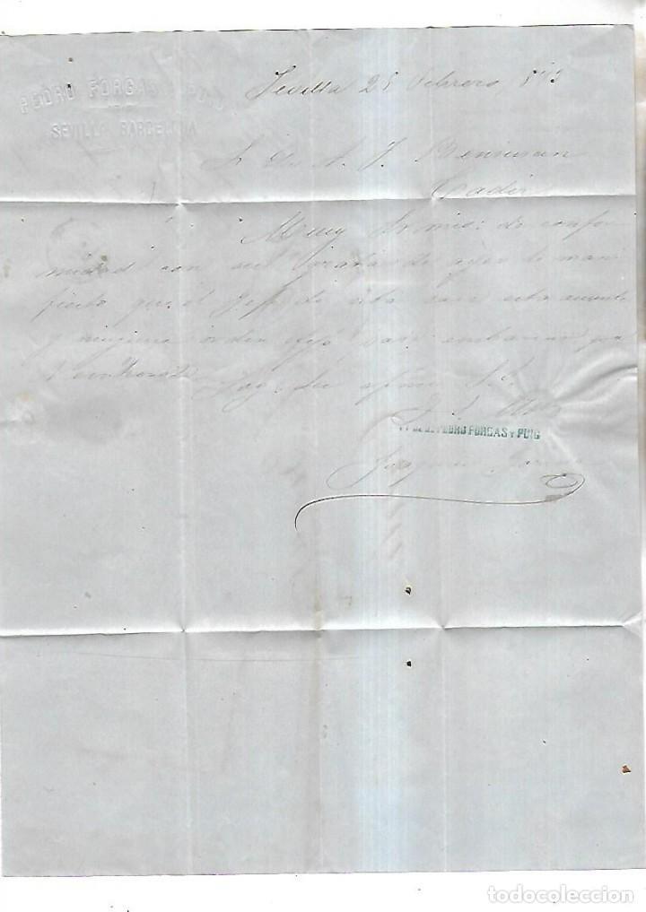 CARTA DE BOSTON A CADIZ. 1875. VER SELLOS (Sellos - España - Alfonso XII de 1.875 a 1.885 - Cartas)