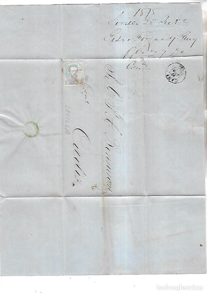 Sellos: CARTA DE BOSTON A CADIZ. 1875. VER SELLOS - Foto 2 - 164680902