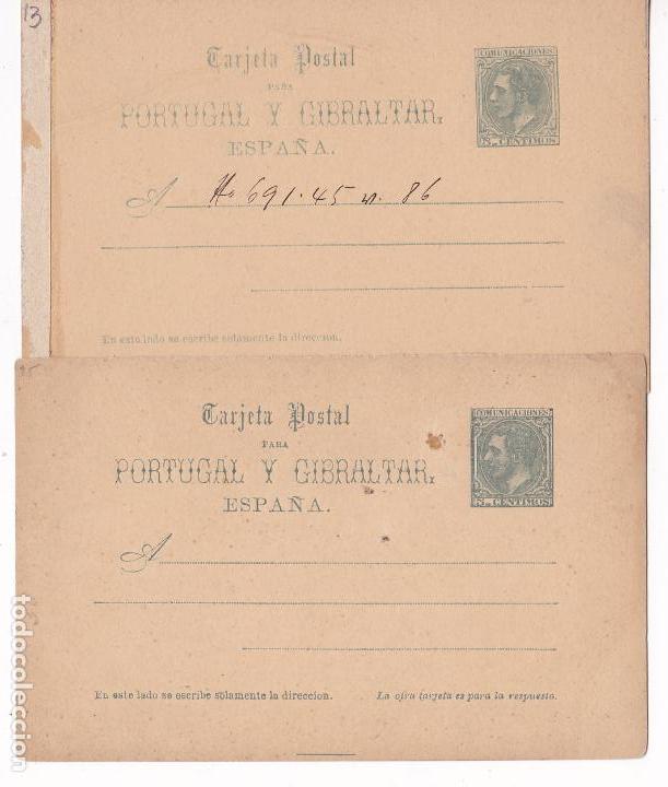 HP5-17- ENTERO POSTAL EDIFIL 14I / 14V. NUEVOS (Sellos - España - Alfonso XII de 1.875 a 1.885 - Cartas)