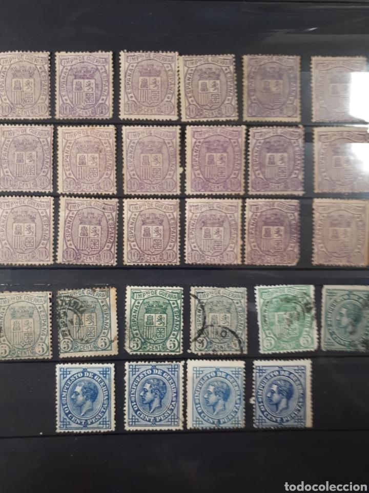 ESCUDO DE ESPAÑA 1875 IMPUESTO DE GUERRA USADOS VALOR MAS DE 75 EUROS DIFIL 154 Y 155 LOT.82 (Sellos - España - Alfonso XII de 1.875 a 1.885 - Usados)