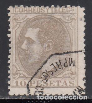 ESPAÑA, 1879 EDIFIL Nº 209, ALFONSO XII. 10 PTS. (Sellos - España - Alfonso XII de 1.875 a 1.885 - Usados)