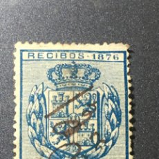 Sellos: RECIBOS 1876 EN AZUL ALFONSO XII 12 CÉNTIMOS DE PESETA. Lote 169458781