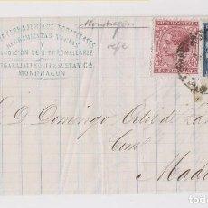 Sellos: ENVUELTA DE MONDRAGÓN, GUIPÚZCOA. RARO AMBULANTE. 1878. PAÍS VASCO. Lote 170455768