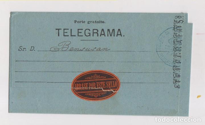 BONITO TELEGRAMA DE CÁDIZ A JEREZ. 1885. (Sellos - España - Alfonso XII de 1.875 a 1.885 - Cartas)