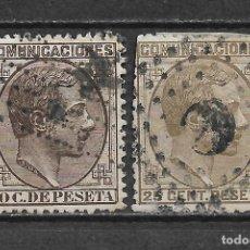 Sellos: ESPAÑA 1878 EDIFIL 192 Y 194 - 6/2. Lote 171061689