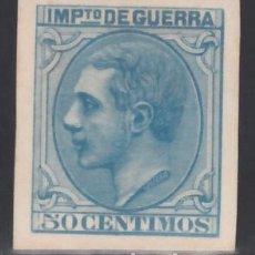 Sellos: ESPAÑA, PRUEBA DE PUNZON, 1879 IMPUESTO DE GUERRA, GALVEZ Nº IG 164,. Lote 171142747