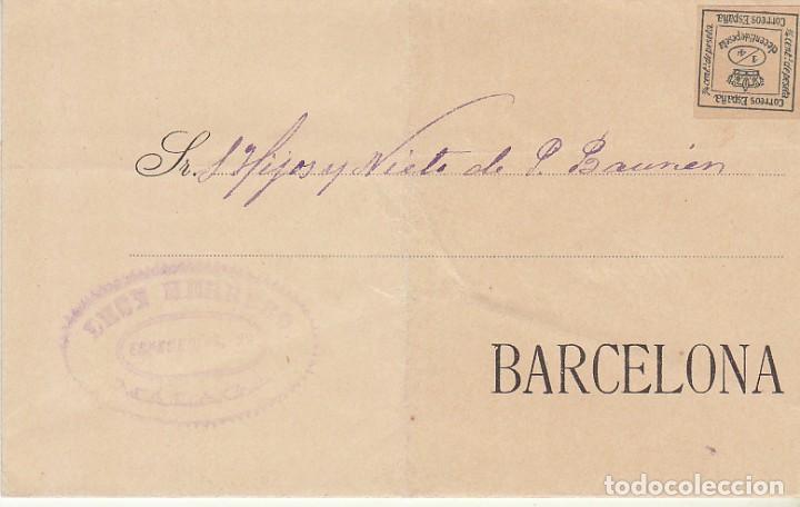 SELLO 173A. MALAGA A BARCELONA.1903. - ANTIGUA CASA DEL ABUELO- (Sellos - España - Alfonso XII de 1.875 a 1.885 - Cartas)