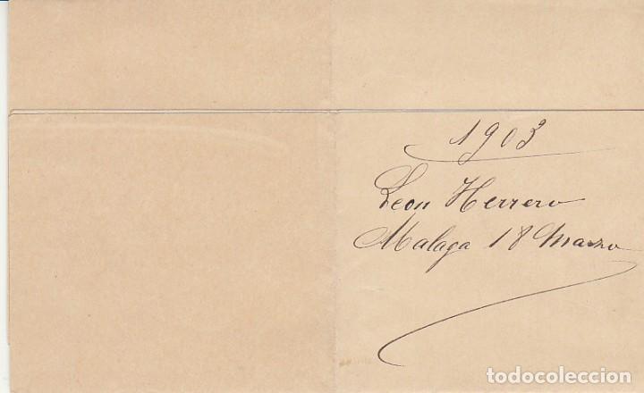 Sellos: Sello 173a. MALAGA a BARCELONA.1903. - ANTIGUA CASA DEL ABUELO- - Foto 2 - 261856035
