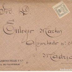 Sellos: SELLO 173A. ALFONSO XII. .RUA DE VALDEORRAS (ORENSE) A MADRID.1907.BONITO FRANQUEO TEXTO COMPLETO VE. Lote 171361444
