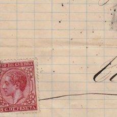 Sellos: CARTA COMPLETA CON NUMS 175 Y 188 DE FRCO.OLLER EN MADRID -1878 CON MATASELLOS DE TREBOL Y ROMBO . Lote 171800803