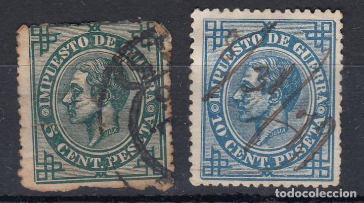 1876 EDIFIL 183 Y 184 USADOS. ALFONSO XII (Sellos - España - Alfonso XII de 1.875 a 1.885 - Usados)