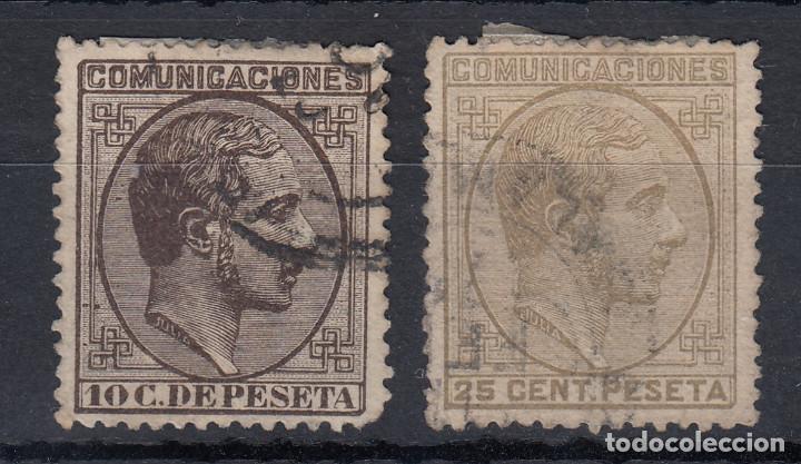 1878 EDIFIL 192 Y 194 USADOS. ALFONSO XII (Sellos - España - Alfonso XII de 1.875 a 1.885 - Usados)