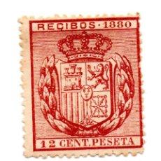 Sellos: SELLO RECIBOS 12 CÉNTIMOS DE PESETA 1880 ALFONSO XII (SEÑAL CHARNELA) NUEVO. Lote 172022338