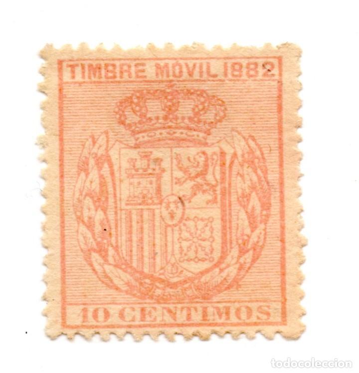 SELLO TIMBRE MOVIL 10 CENTIMOS 1882 ALFONSO XII (SEÑAL CHARNELA) NUEVO (Sellos - España - Alfonso XII de 1.875 a 1.885 - Nuevos)