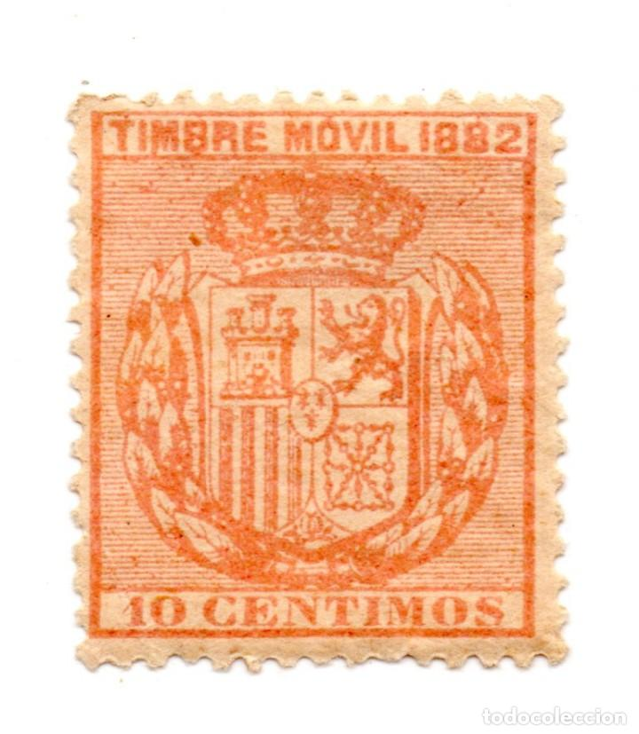 SELLO TIMBRE MOVIL 10 CÉNTIMOS 1882 ALFONSO XII (SEÑAL CHARNELA) NUEVO (Sellos - España - Alfonso XII de 1.875 a 1.885 - Nuevos)