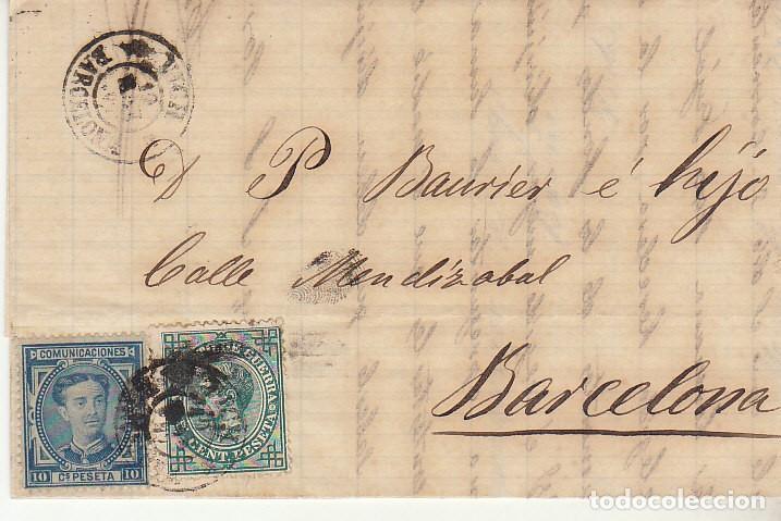 SELLOS 175 Y 183. ALFONSO XII. VICH A BARCELONA. 1877. (Sellos - España - Alfonso XII de 1.875 a 1.885 - Cartas)