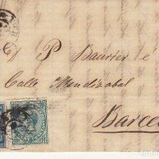 Sellos: SELLOS 175 Y 183. ALFONSO XII. VICH A BARCELONA. 1877.. Lote 172073037