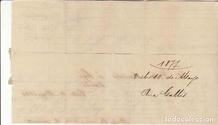 Sellos: Sellos 175 y 183. ALFONSO XII. VICH a BARCELONA. 1877. - Foto 3 - 172073037