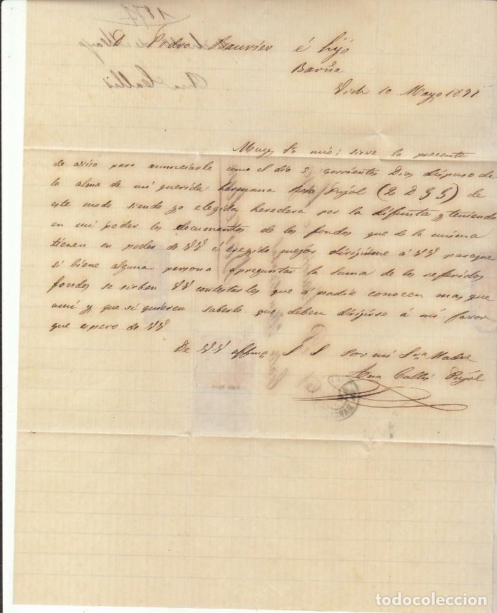Sellos: Sellos 175 y 183. ALFONSO XII. VICH a BARCELONA. 1877. - Foto 4 - 172073037