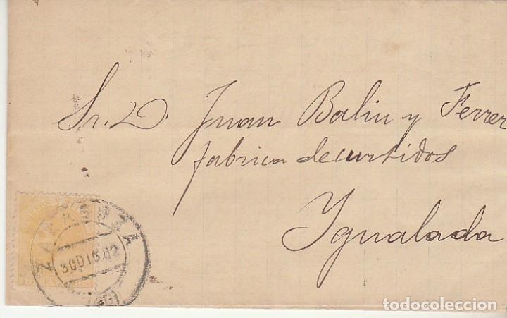 SELLO 210. ALFONSO XII. ZARAGOZA A YGUALADA. 1882. (Sellos - España - Alfonso XII de 1.875 a 1.885 - Cartas)