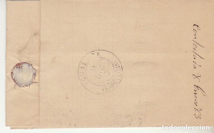 Sellos: Sello 210. ALFONSO XII. ZARAGOZA a YGUALADA. 1882. - Foto 2 - 217546152