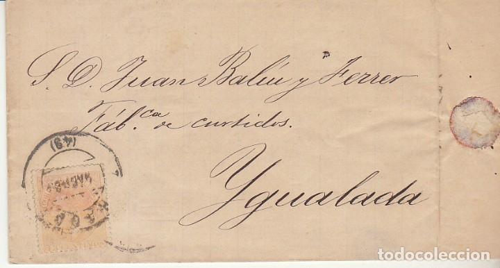 SELLO 210 : ALFONSO XII. ZARAGOZA A IGUALADA. 1883. (Sellos - España - Alfonso XII de 1.875 a 1.885 - Cartas)