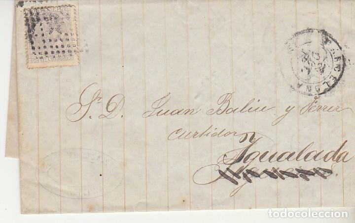 SELLO 204. ALFONSO XII. BARCELONA A YGUALADA.1879. (Sellos - España - Alfonso XII de 1.875 a 1.885 - Cartas)