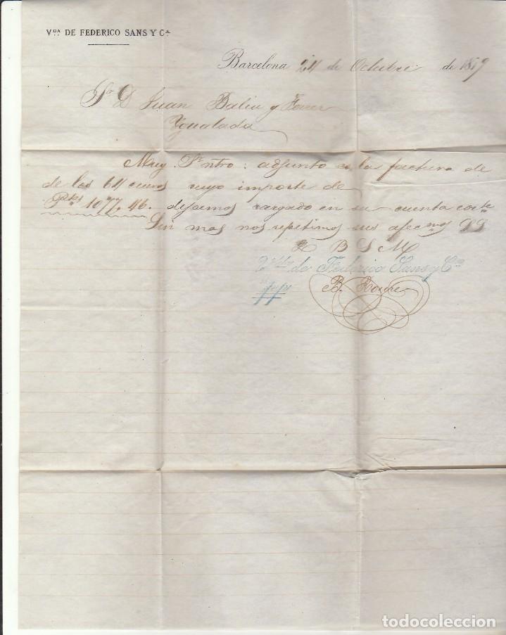Sellos: Sello 204. ALFONSO XII. BARCELONA a YGUALADA.1879. - Foto 2 - 172411398
