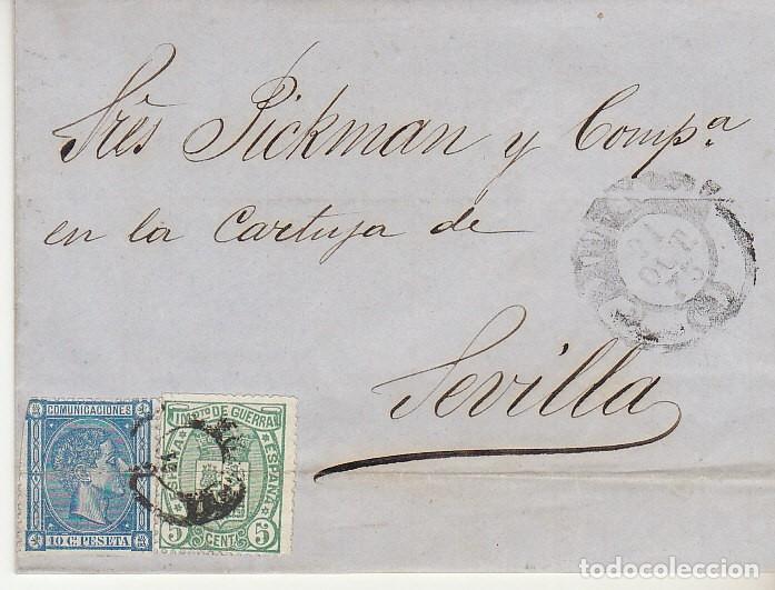 SELLOS 154 Y 164. ALFONSO XII. BARCELONA A SEVILLA. 1875. (Sellos - España - Alfonso XII de 1.875 a 1.885 - Cartas)