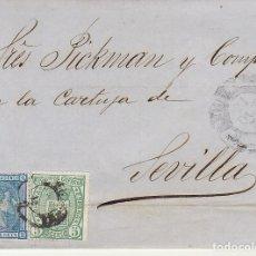 Sellos: SELLOS 154 Y 164. ALFONSO XII. BARCELONA A SEVILLA. 1875.. Lote 172709089
